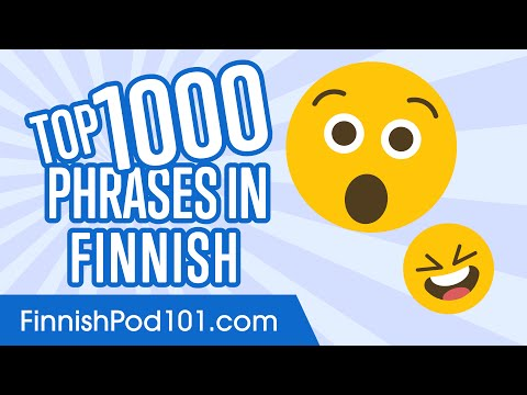 Top 1000 Most Useful Phrases in Finnish