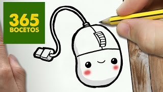 COMO DIBUJAR RATON KAWAII PASO A PASO - Dibujos kawaii faciles - How to draw a MOUSE