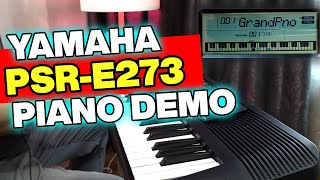 Grand Piano Sound of Yamaha PSR-E273 [YPT-270] & More....