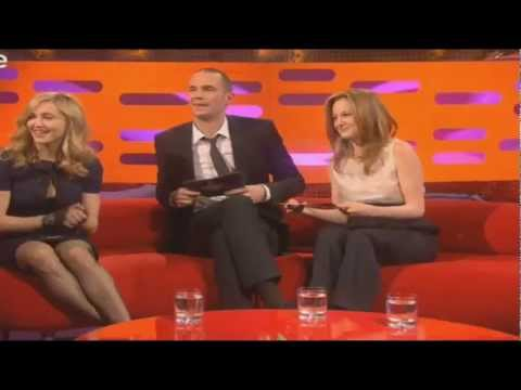 Madonna Hungarian Interview- FUNNY by Andrea Riseborough & James D'Arcy- The Graham Norton Show