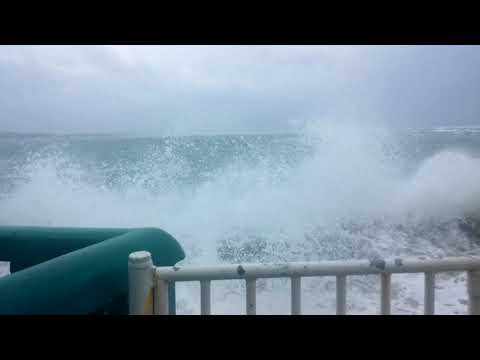 Hurricane MARIA pounds Cabarete Beach, Dominican Republic, Sept 21st Morning High Tide