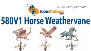 Budgetmailboxes.com | Good Directions 580v1 Horse Weathervane - Blue Verde Copper