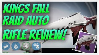 Destiny RAID AUTO RIFLE! Anguish of Drystan Weapon Review. Kings Fall Raid Loot. The Taken King.