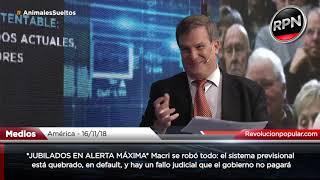 *JUBILADOS EN ALERTA MÁXIMA* Macri se robó todo y el sistema previsional está QUEBRADO