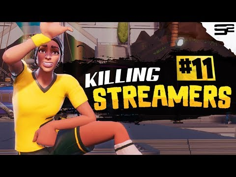 Killing Twitch Streamers #11 (with Reactions) - Fortnite Battle Royale