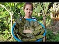 Awesome Cooking Dessert Banana,Coconut Recipe-Cooking Banana Recipe-Village Food Factory-Asian Food