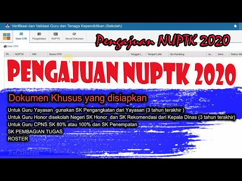 Pengajuan NUPTK 2020 from YouTube · Duration:  11 minutes 31 seconds