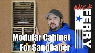Ⓕ How To Make A Modular Cabinet For Sand Paper (ep48)