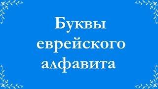 Буквы еврейского алфавита  Огласовки  Чтение УРОК 1