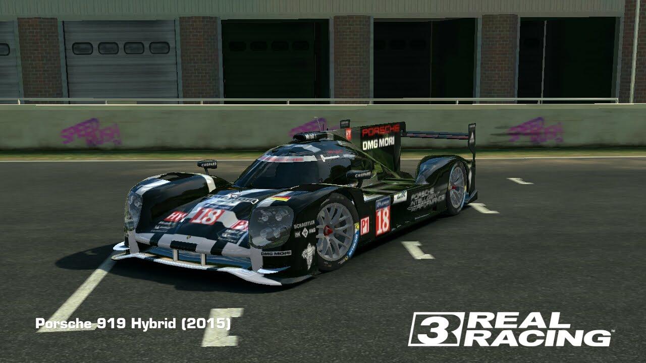 бесплатный porsche 919 hybrid real racing 3