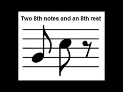 8th Notes and 16th Notes and Corresponding Rests - Short Basic Music Theory Lesson