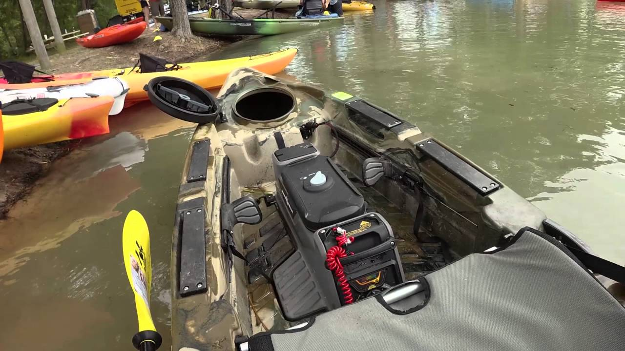 Two Minute Tackle: Old Town Predator Minn-Kota Motorized Kayak - YouTube