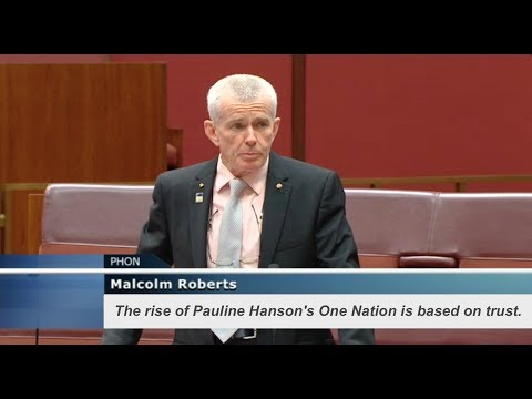 The rise of Pauline Hanson's One Nation is based on trust.