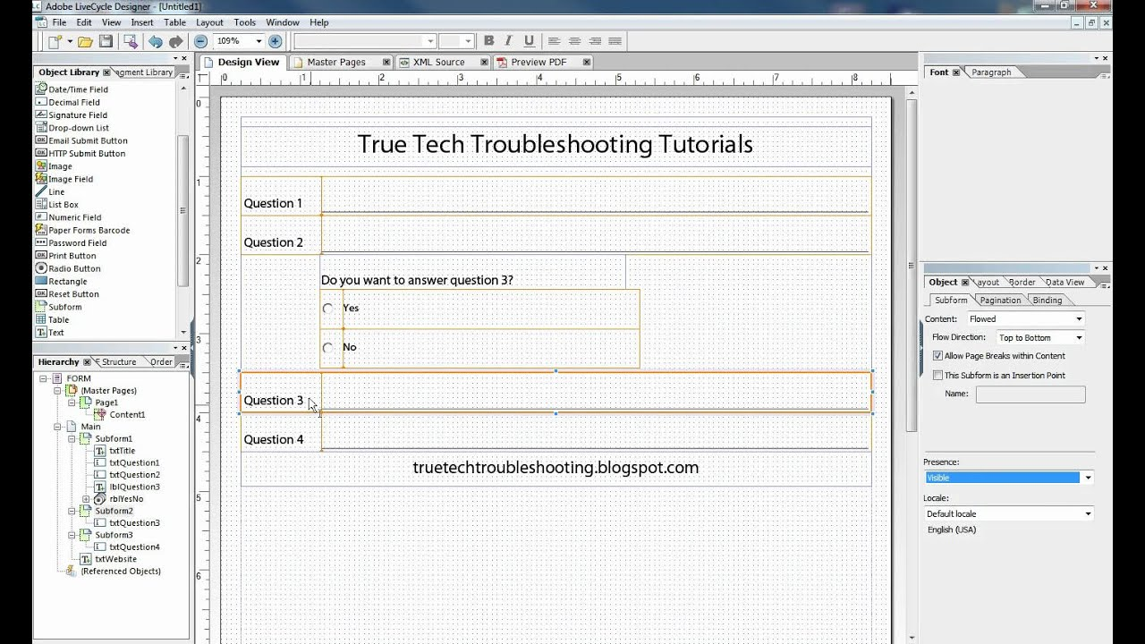 Form Flow Applied to Radio Buttons in Adobe LiveCycle ® - YouTube