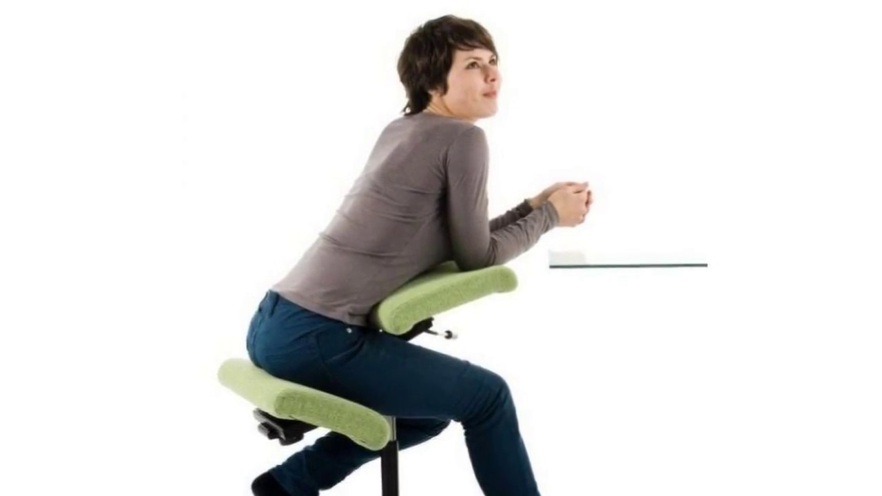 Ergonomic Kneeling Chair with Saddle Seat YouTube