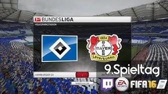 HAMBURGER SV : BAYER 04 LEVERKUSEN - 9.Spieltag | LIVESTREAM FIFA Prognosen