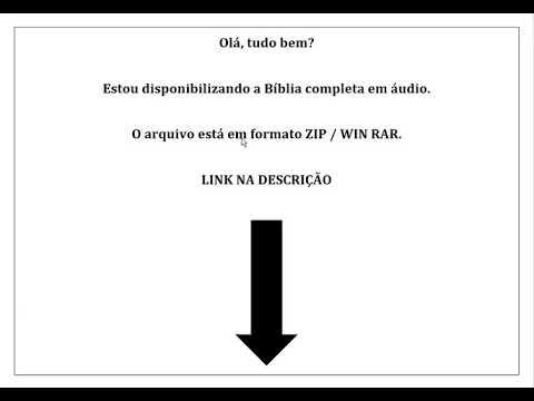 DOWNLOAD / BAIXAR A BÍBLIA COMPLETA EM AUDIO MP3