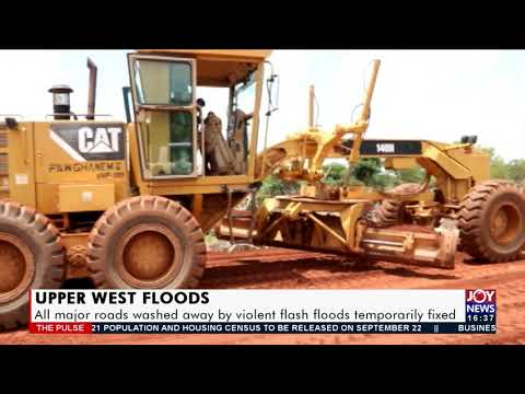 Upper West Floods: All major roads washed away by violent flash temporarily fixed (15-9-21)