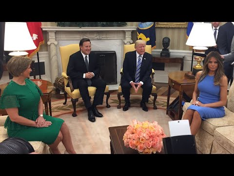 President Trump & Melania Welcome President Varela of Panama to the White House 6/19/17