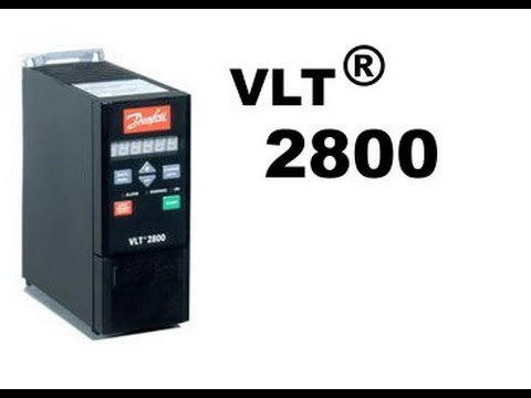 danfoss vlt 2800 wiring diagram 350z coil pack vfd vlt2800 speed adjustment and run test youtube