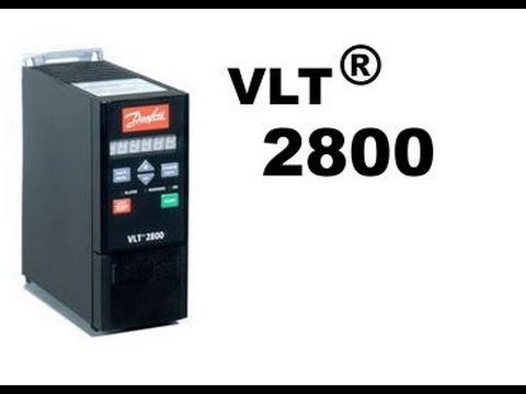 Danfoss vfd vlt2800 wiring ,speed adjustment and run test