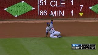 Puig's great grab saves Hill's perfect game