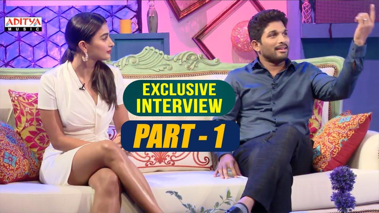 Exclusive Interview With Allu Arjun & Pooja Hegde | Part-01  | Aditya Music | DSP | Harish Shank