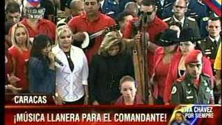 Así se despidió Reina Lucero del Presidente Chávez