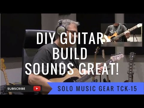 Telecaster Kit from Solo Music Gear With Peavey Bandit Red Stripe Amp
