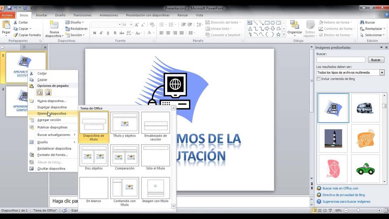copiar  duplicar y eliminar una diapositiva en power point
