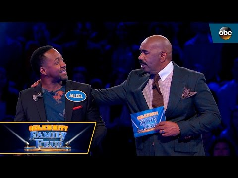 Jaleel White Hits ALL No.1 Answers  Celebrity Family Feud