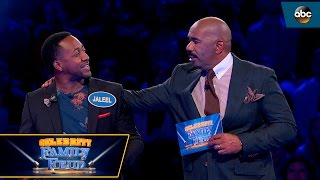 Jaleel White Hits ALL No.1 Answers - Celebrity Family Feud