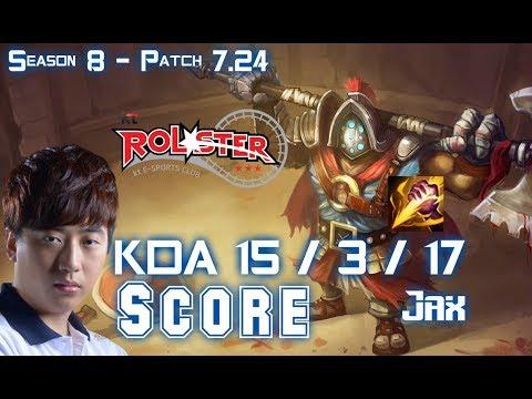 KT Score JAX vs SHYVANA Jungle - Patch 7.24 KR Ranked