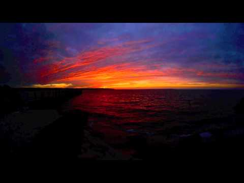 Sunset over Fort Pond Bay as seen from Dureyea's Lobster Deck, Montauk NY, October 22 2013