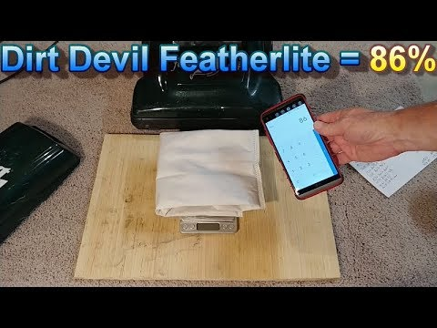Dirt Devil Featherlite Sand in the Carpet Test