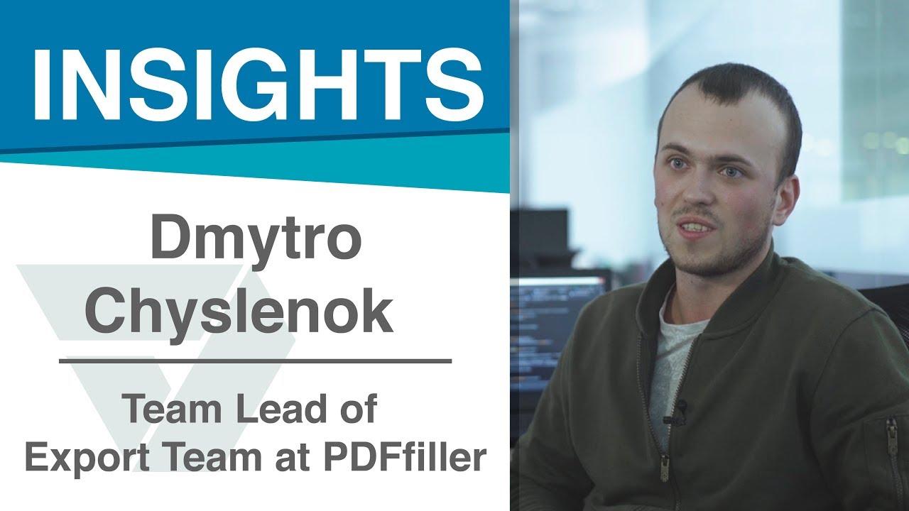 Dmytro Chyslenok / Отзыв сотрудника о компании PDFfiller