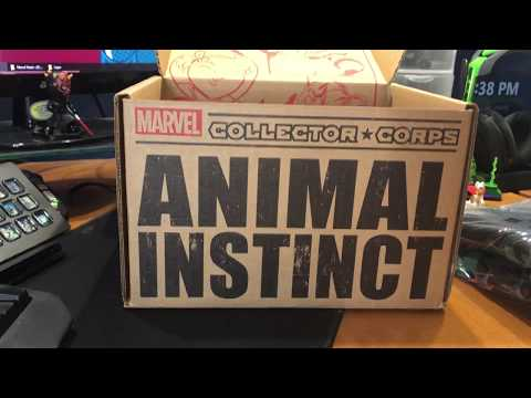 Marvel Collector Corps Animal Instinct February 2018 Box Unboxing