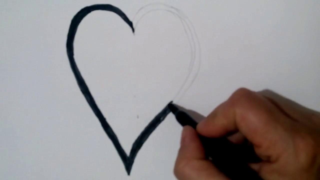 Kalp Nasil Cizilir Ciz Ve Boya Youtube