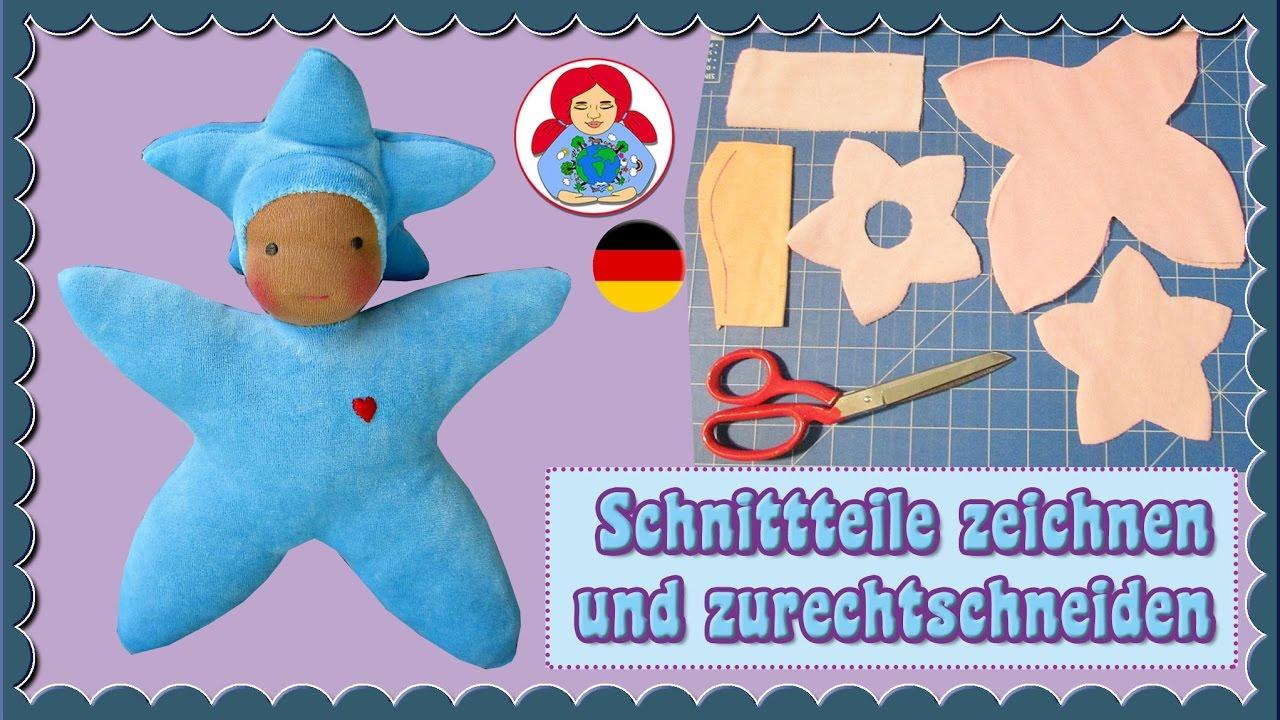 DIY | Sternenkind Puppe Teil 2: Schnitteile ausschneiden und nähen ...