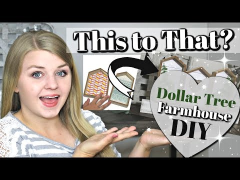 How I used MY DOLLAR TREE WOOD HOUSES | DIY DOLLAR TREE FARMHOUSE Home Decor | Krafts by Katelyn