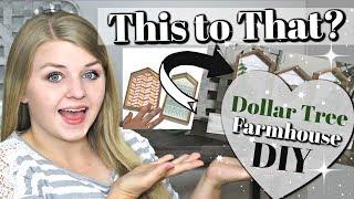 How I used MY DOLLAR TREE WOOD HOUSES | DIY DOLLAR TREE FARMHOUSE Home Decor | Krafts by Katelyn
