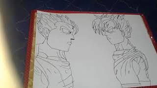 How to draw goku vs gohan