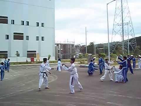 taekwondo demo held in KEPCO Naga, City of Naga, Cebu