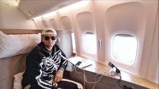 HUGE FIRST CLASS SEAT on Cathay Pacific by : CaseyNeistat