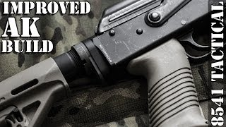 Improved Ak Build - Rifle Dynamics M4 Stock Adapter, Magpul Moe And Afg