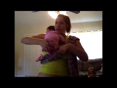 Ring sling newborn and toddler positions