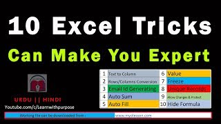 TOP 10 Advanced Excel Tricks by an Expert To Make YOU smart