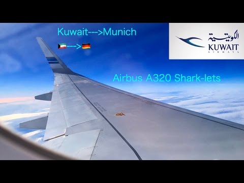 Kuwait Airways Airbus A320 SharkLets Kuwait To Munich Flight Report KU173|9K-AKE
