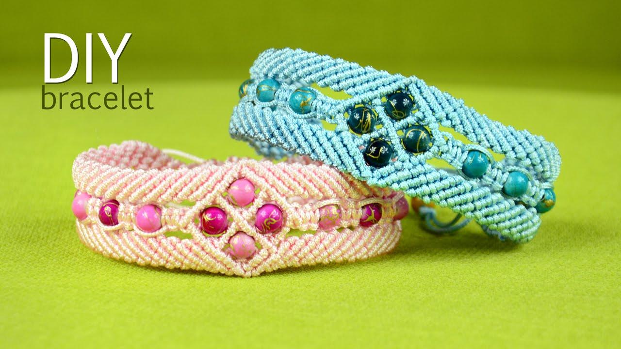 how to finish a macrame bracelet