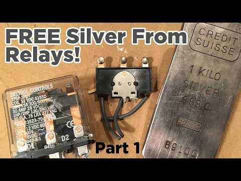 Ben Builds: Extract FREE Silver from Relay Contacts! | Part 1